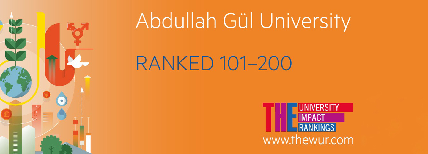 Abdullah Gül Universitt AGU, ranked, Times Higher Education, Impact Rankings, 2019