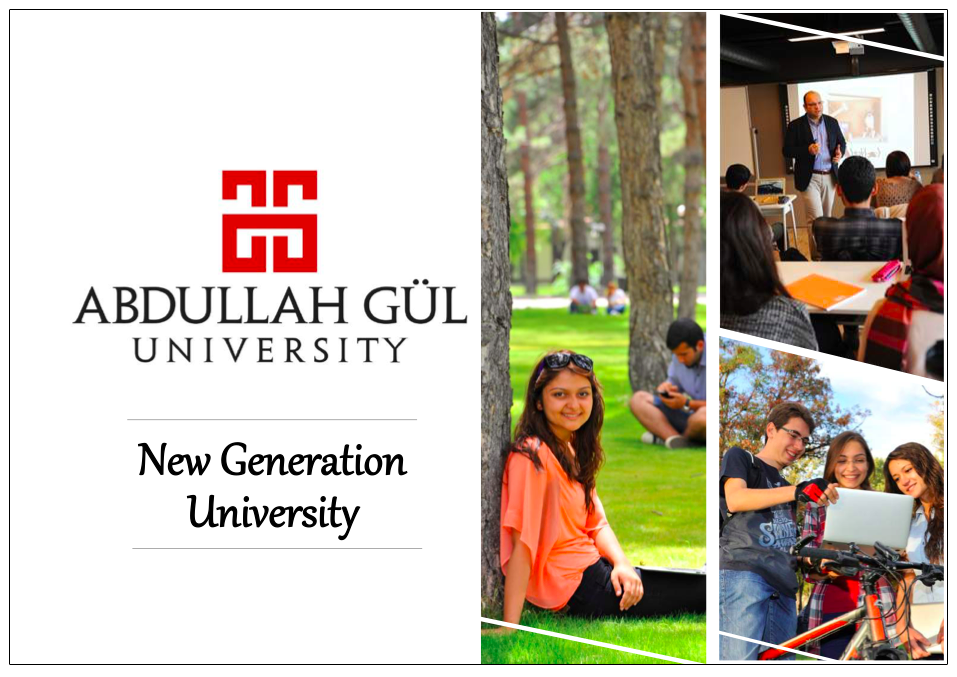 Abdullah Gül University, AGU, Turkey, Kayseri, Study in Turkey, programs in English, New Generation University, State University, Philanthropic Foundation