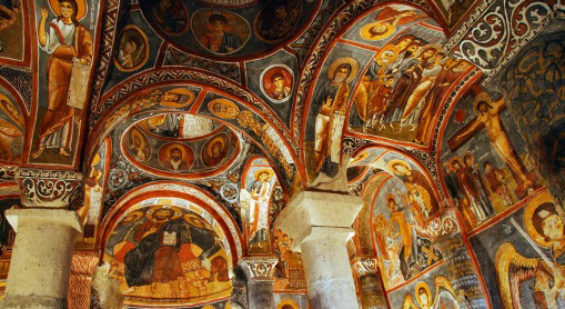 Cappadocia, church, painting, tourism, UNESCO World Heritage, Kayseri