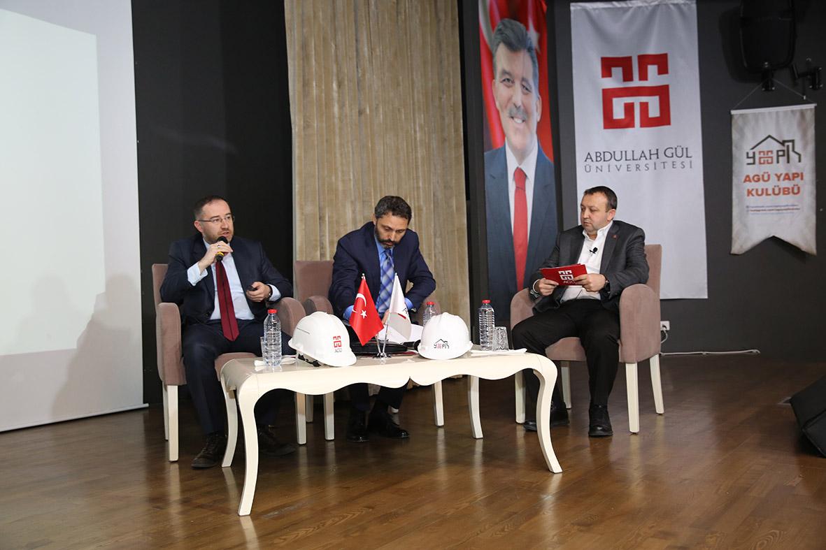 """AGÜ'de """"Türk Gayrimenkul Sektörüne Genel Bakış"""" Konulu Panel..."""
