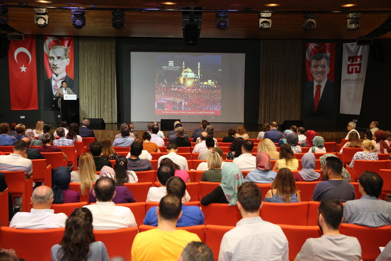 AGÜ'de 15 Temmuz Şehitleri Anma Programı...
