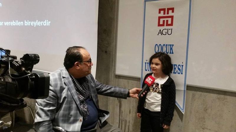 AGÜ Çocuk Girişimcilik Atölyesi TRT Ekranlarında...