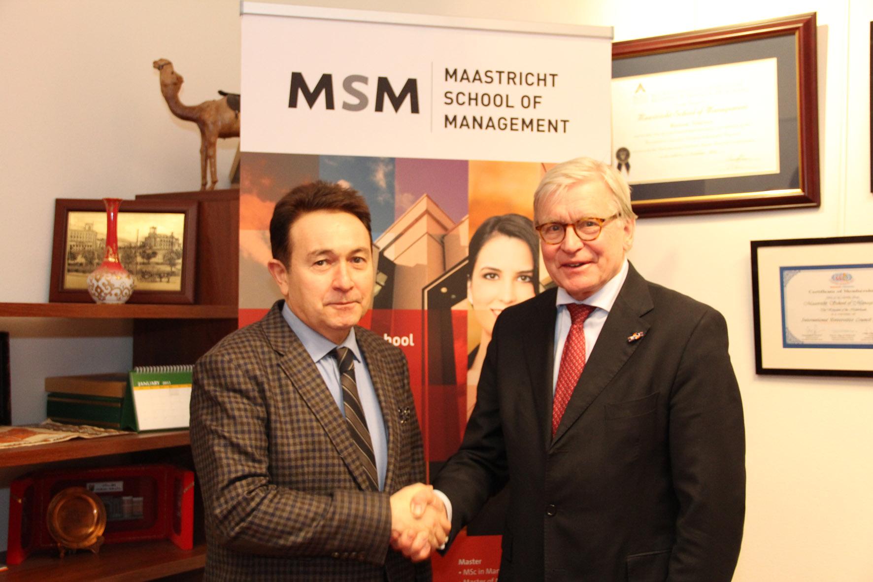 AGÜ ile Hollanda Maastricht Yönetim Bilimleri Okulu Arasında İşbirliği Anlaşması...