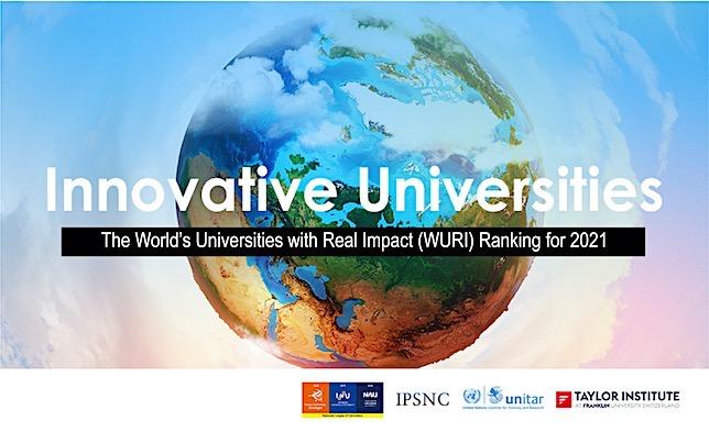 WURI 2021 Dünya Yenilikçi Üniversiteler Sıralaması