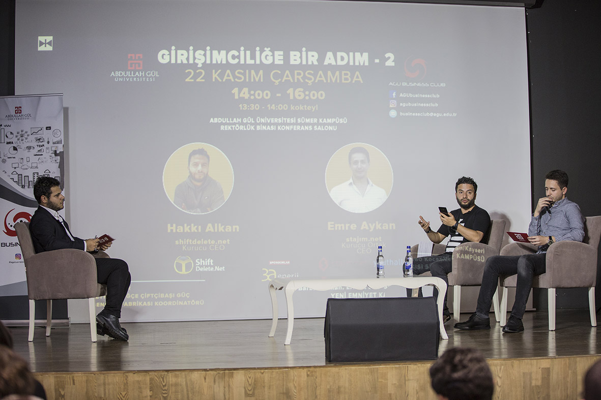 """AGÜ Business Club'tan """"Girişimciliğe Bir Adım"""" Söyleşileri..."""