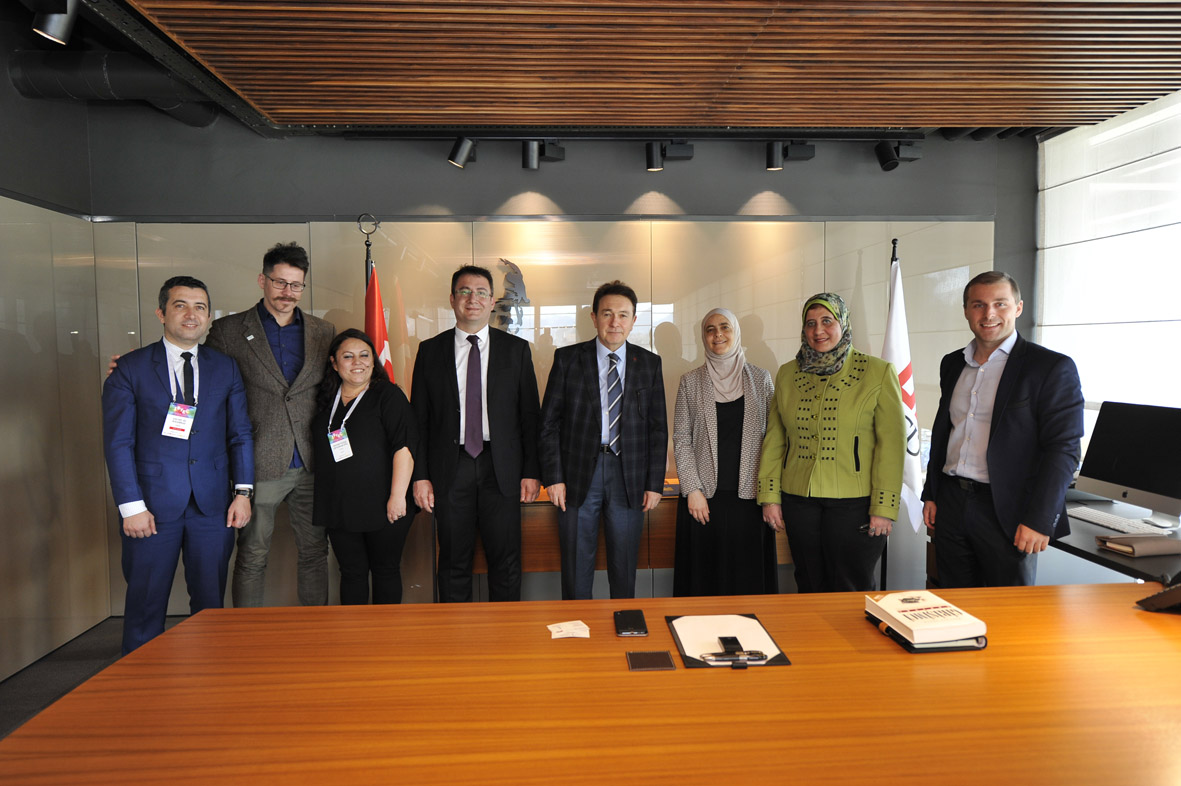 ISYEC'18 Panelistlerinden Rektör Sabuncuoğlu'na Ziyaret...