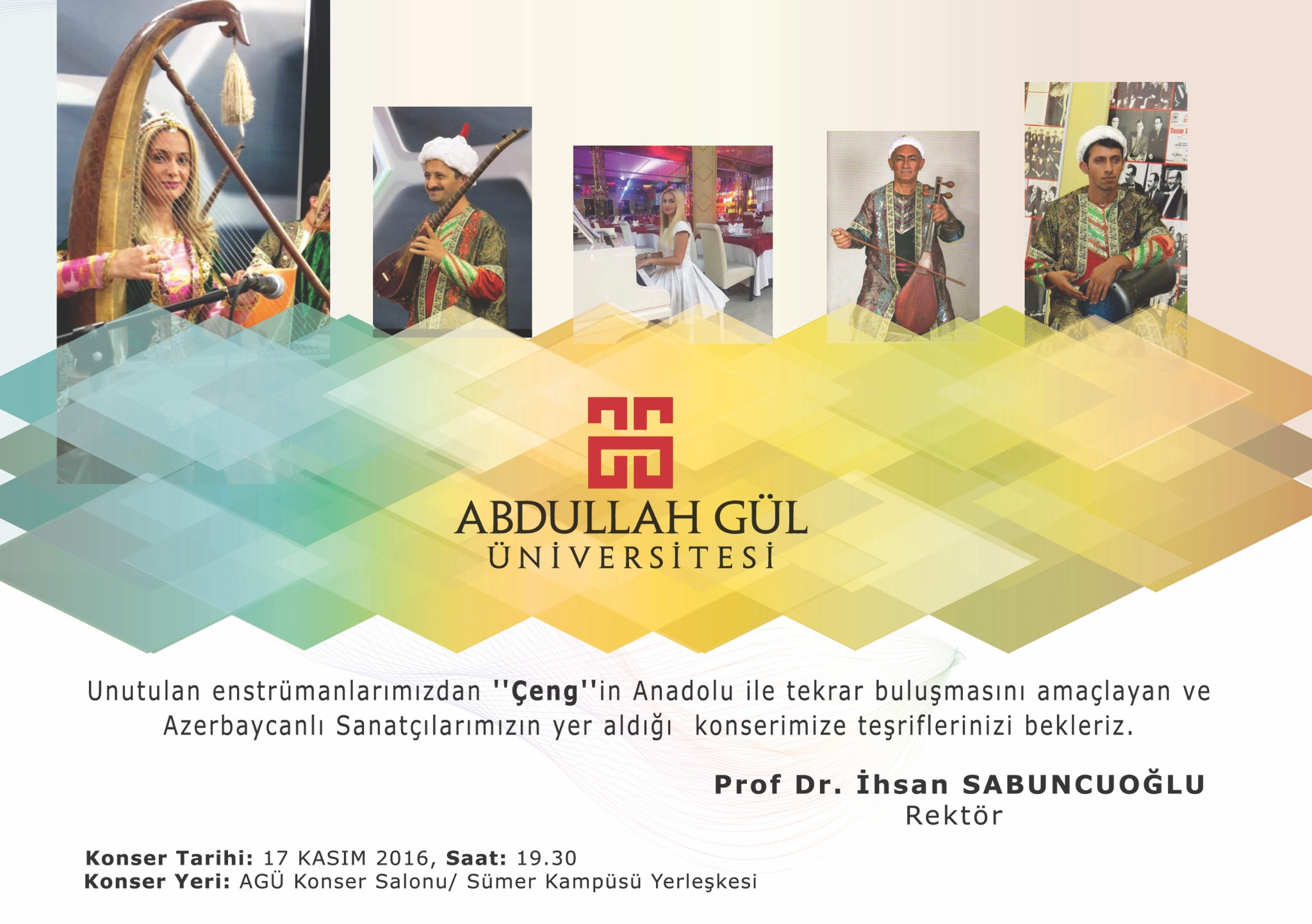 """AGÜ'de """"Çengname"""" Konseri..."""