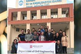AGÜ İnşaat Mühendisliği Öğrencilerinin KASKİ Teknik Gezisi