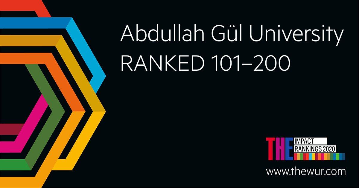 Abdullah Gül Üniversitesi, Uluslararası Sıralamada Türkiye'nin En İyi Üniversiteleri Arasında Lider